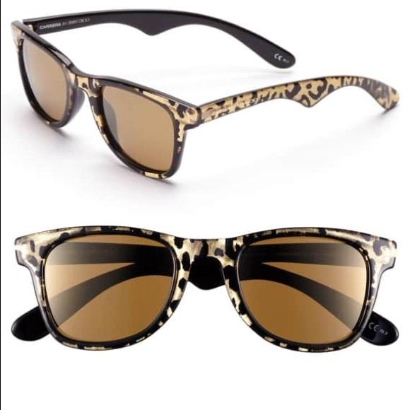 9d5e09d3766 Jimmy Choo Accessories - Jimmy Choo Carrera Sunglasses Gold Panther Print